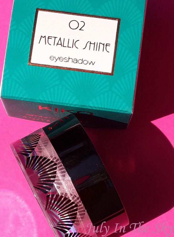 blog beauté kiko collection rebel romantic metallic shine eyeshadow avis test swatch
