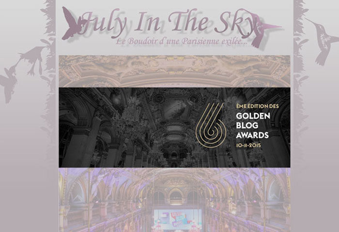July In The Sky aux Golden Blog Awards 2015