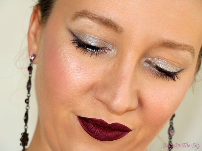 blog beauté make-up of the day réveillon argent violet givré dare to dazzle dose of colors avis test swatch