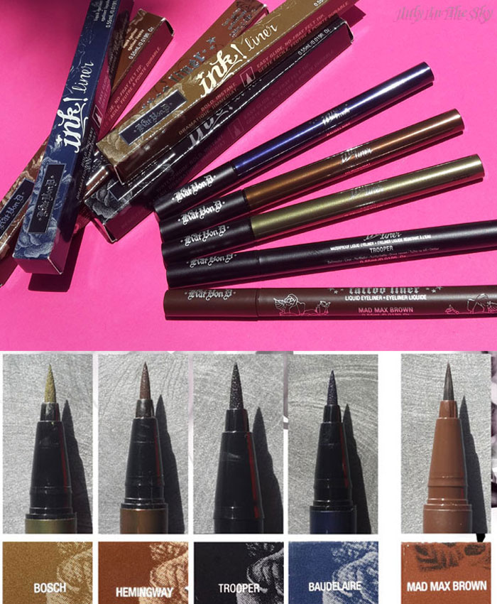 blog beauté kat von d france sephora ink tattoo liner swatch