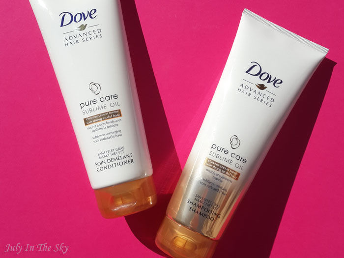 La gamme Pure Care Sublime Oil de Dove