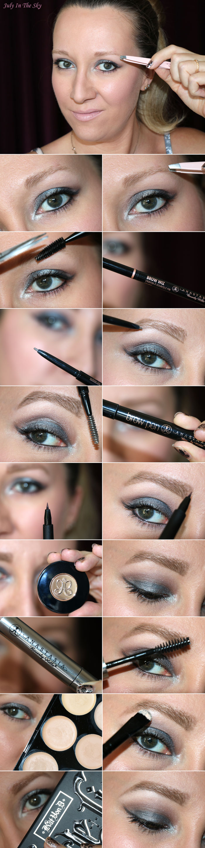 blog beauté routine sourcils blonds anastasia beverly hills