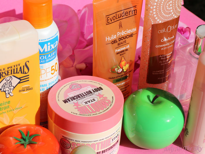 blog beauté produits termines evoluderm soap and glory clarins kiko l'oreal tonymoly etude house mixa les cents ciels cellublue