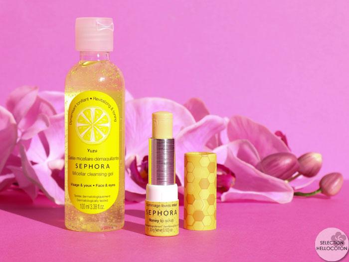 Made In Sephora, le gommage à lèvres parfait et la gelée micellaire vitaminée