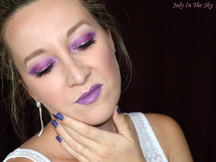 blog beauté maquillage monday shadow challenge twitch purple urban decay vice lipstick